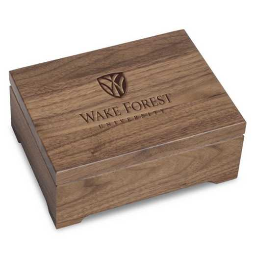 615789879152: Wake Forest University Solid Walnut Desk Box
