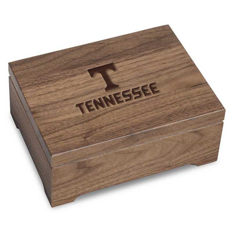 615789880219: University of Tennessee Solid Walnut Desk Box