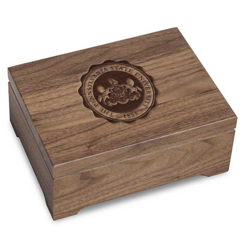 615789908388: Penn State University Solid Walnut Desk Box