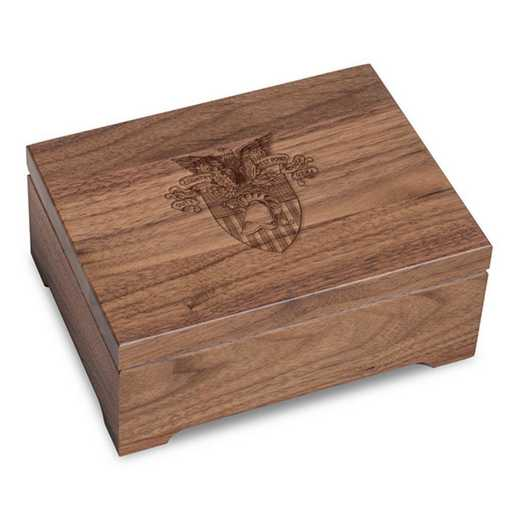 615789939047: US Military Academy Solid Walnut Desk Box