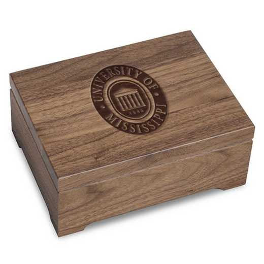 615789994787: University of Mississippi Solid Walnut Desk Box