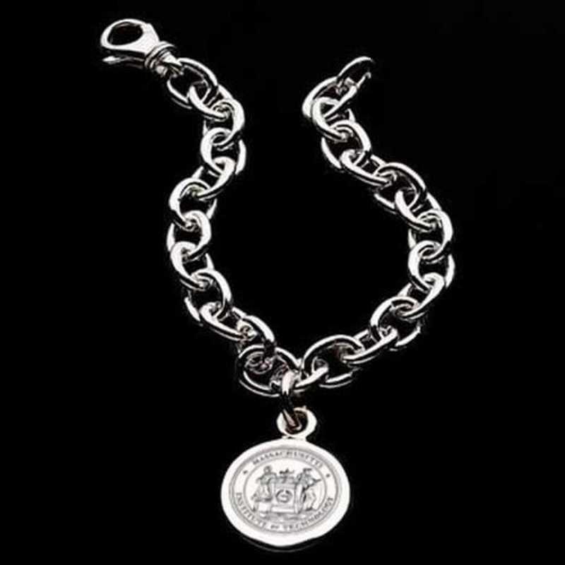 615789111719: MIT Sterling Silver Charm Bracelet