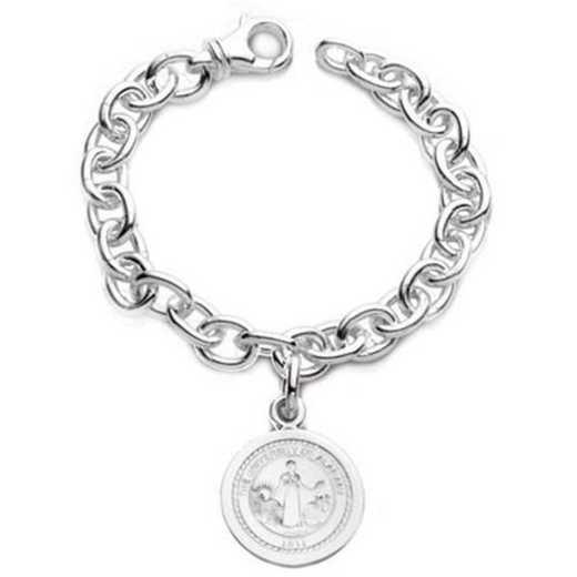 615789191582: Alabama Sterling Silver Charm Bracelet
