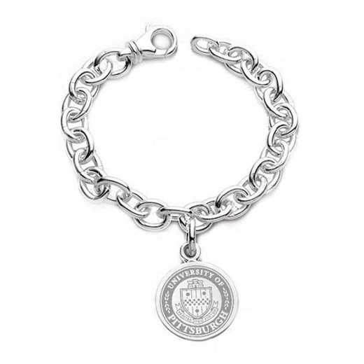 615789220152: Pittsburgh Sterling Silver Charm Bracelet