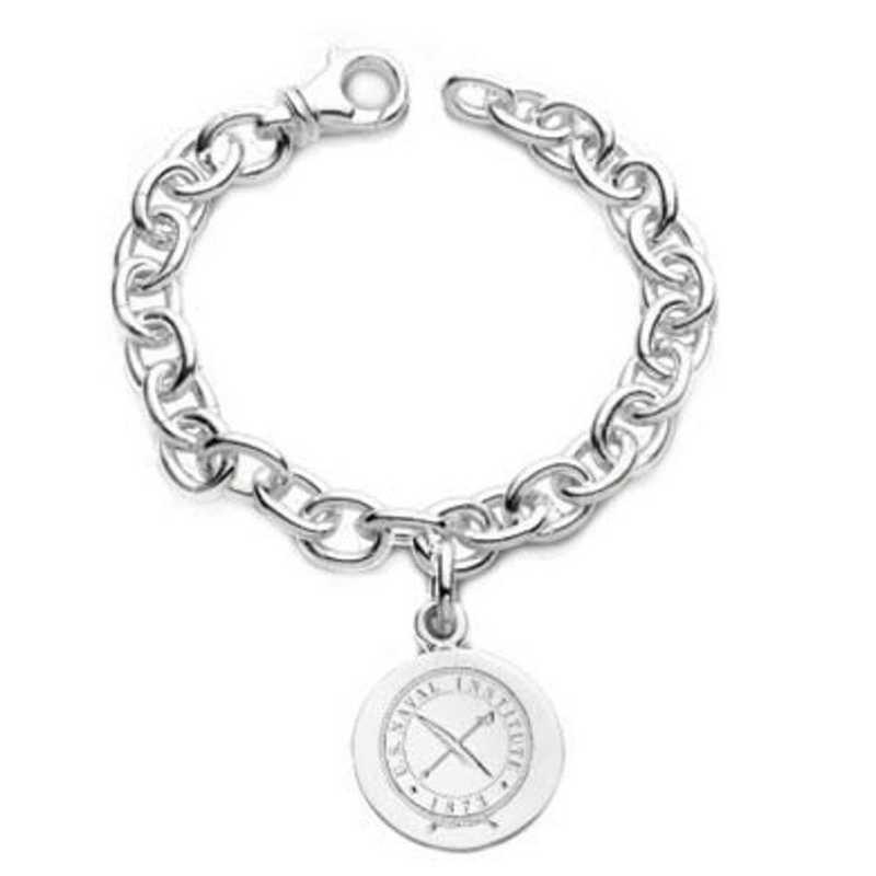 615789237587: USNI Sterling Silver  Charm Bracelet