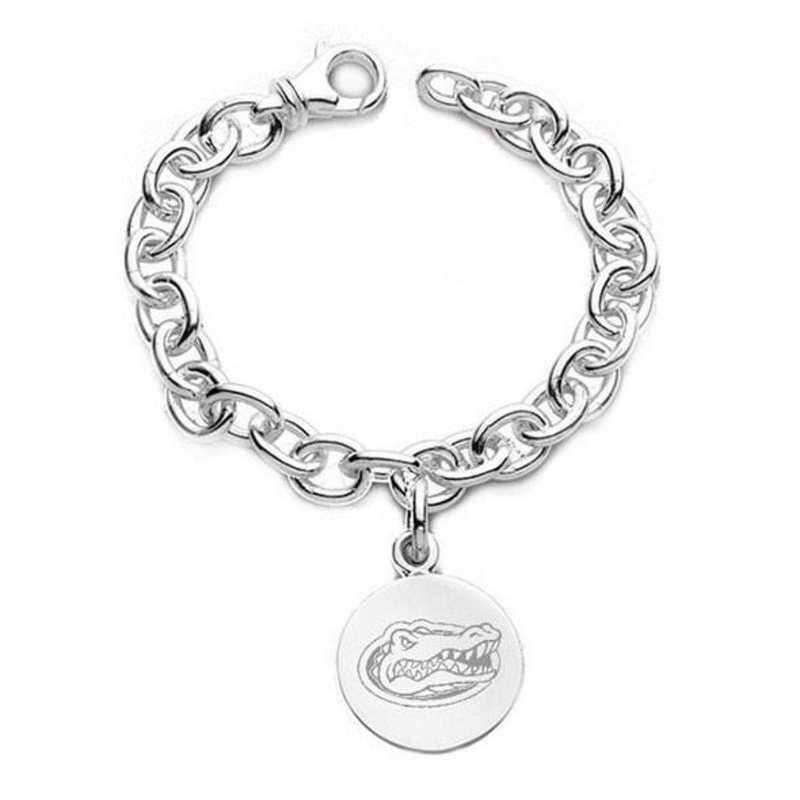 615789302544: Florida Sterling Silver Charm Bracelet
