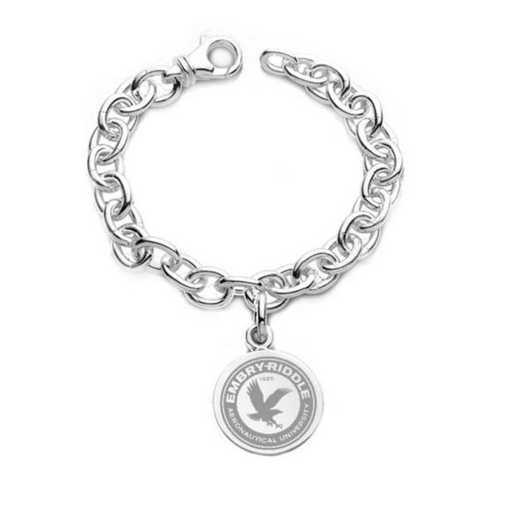 615789312055: Embry-Riddle Sterling Silver Charm Bracelet