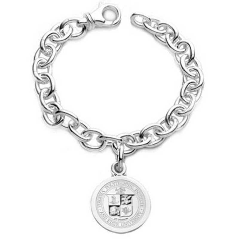 615789316428: Virginia Tech Sterling Silver Charm Bracelet