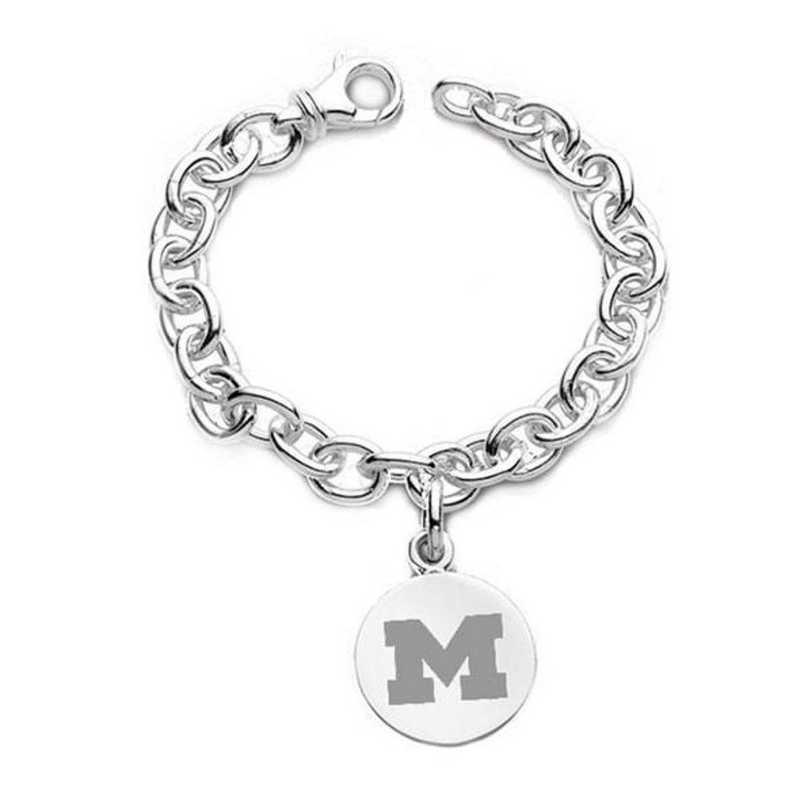 615789351900: Michigan Sterling Silver Charm Bracelet
