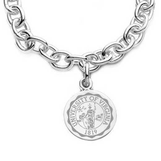 615789353065: UVA Sterling Silver Charm Bracelet