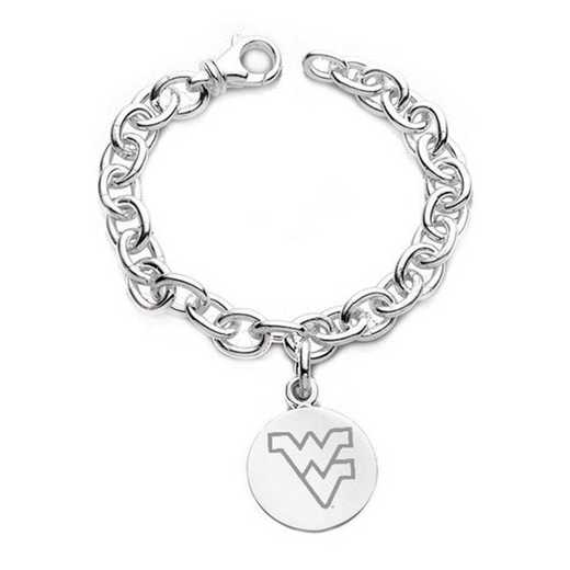 615789357964: West Virginia University Sterling Silver Charm Bracelet