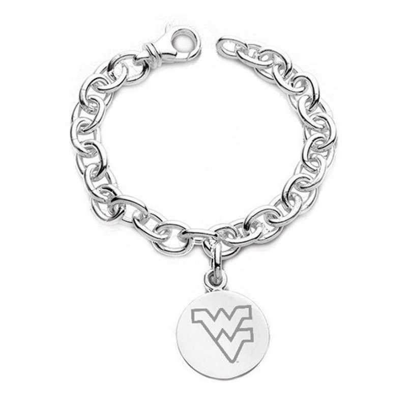 615789357964: West Virginia University Sterling Silver Charm Bracelet