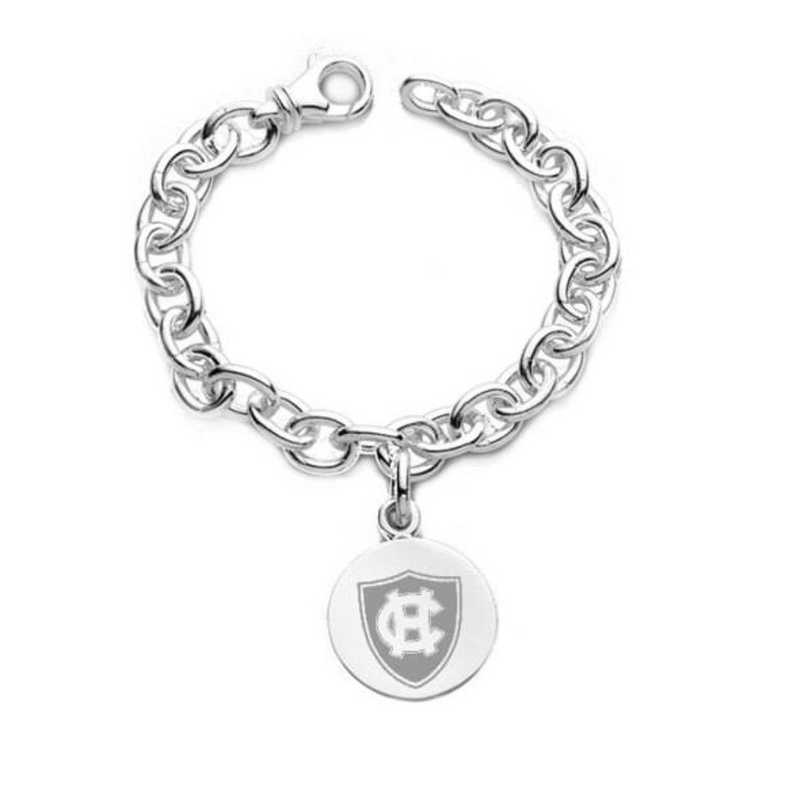 615789384403: Holy Cross Sterling Silver Charm Bracelet