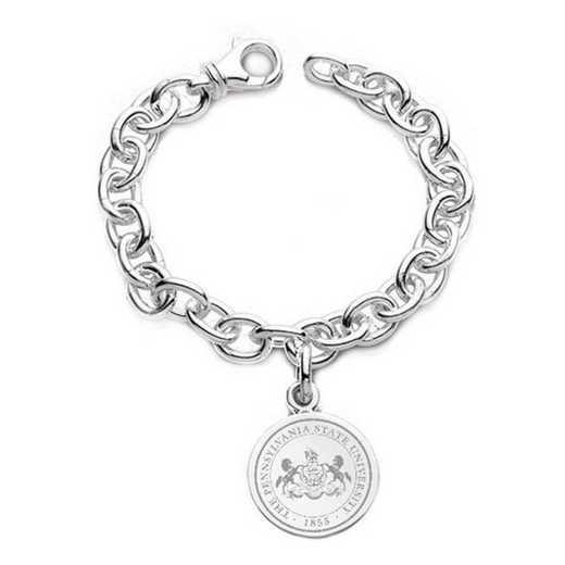 615789409526: Penn State Sterling Silver Charm Bracelet