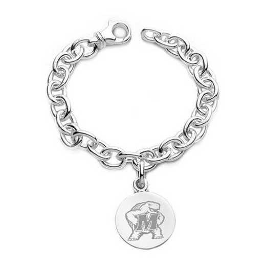 615789435341: Maryland Sterling Silver Charm Bracelet