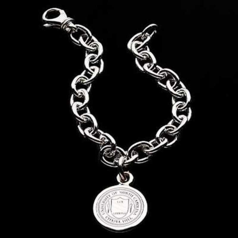 615789436317: UNC Sterling Silver Charm Bracelet