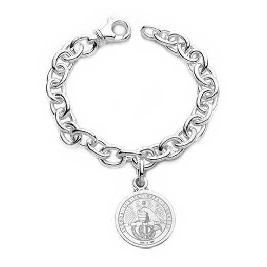 615789445746: Davidson College Sterling Silver Charm Bracelet