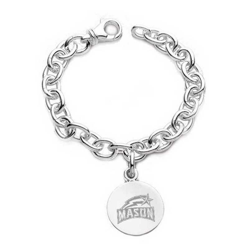 615789556077: George Mason University Sterling Silver Charm Bracelet