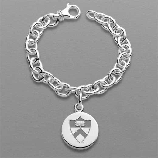 615789564690: Princeton Sterling Silver Charm Bracelet