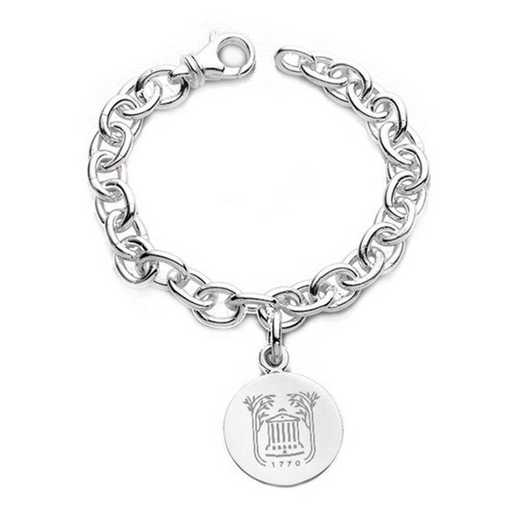 615789590903: College of Charleston Sterling Silver Charm Bracelet