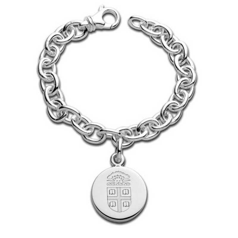 615789596424: Brown Sterling Silver Charm Bracelet