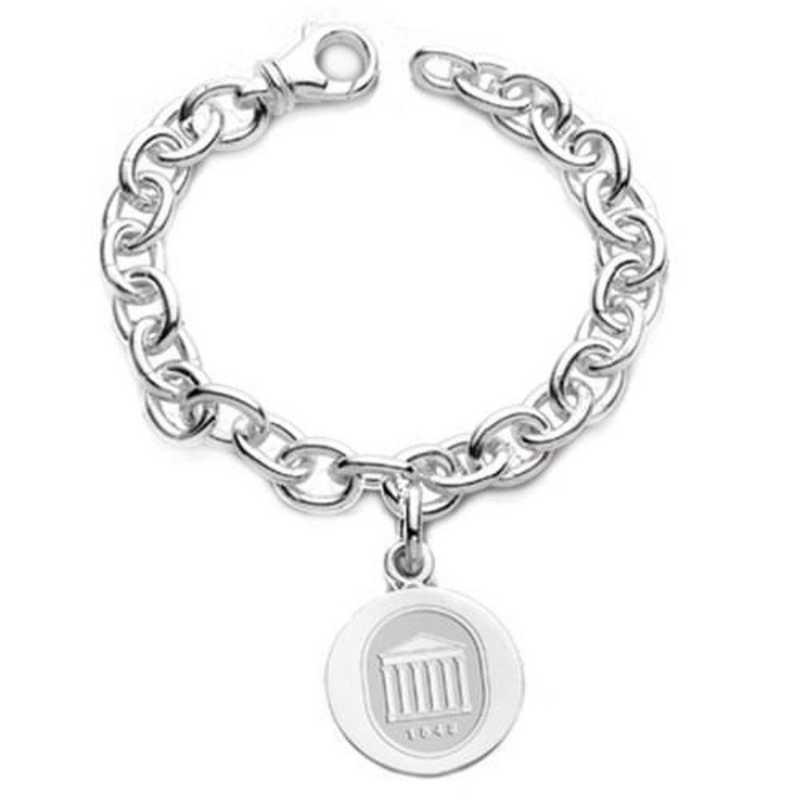 615789614036: Ole Miss Sterling Silver Charm Bracelet