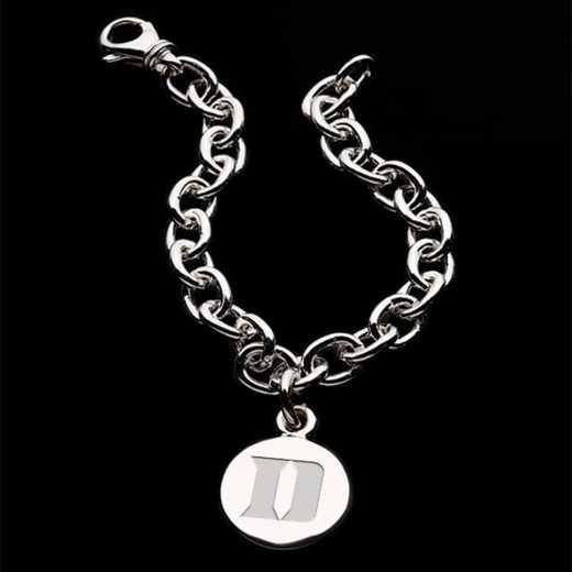 615789702245: Duke Sterling Silver Charm Bracelet