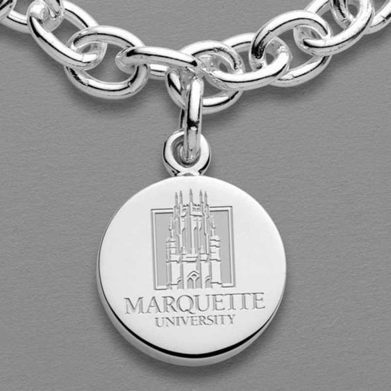 615789780922: Marquette Sterling Silver Charm Bracelet