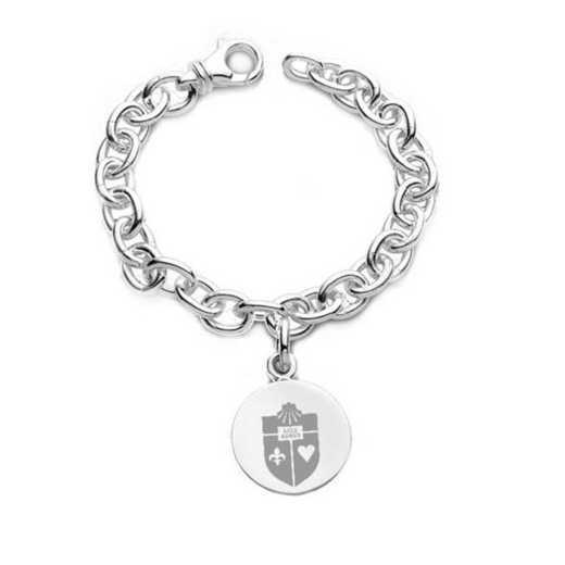 615789802389: St. John's Sterling Silver Charm Bracelet