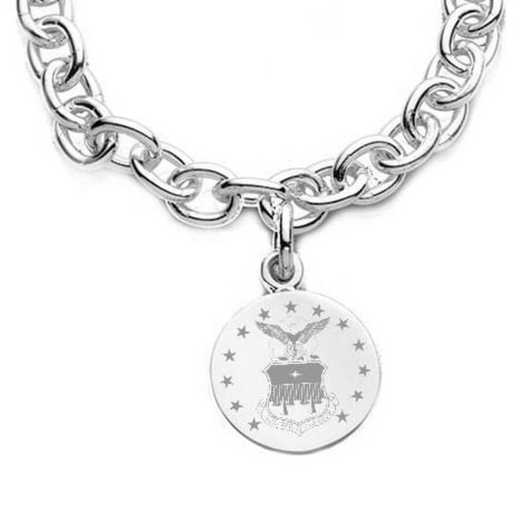 615789846321: Air Force Academy Sterling Silver Charm Bracelet