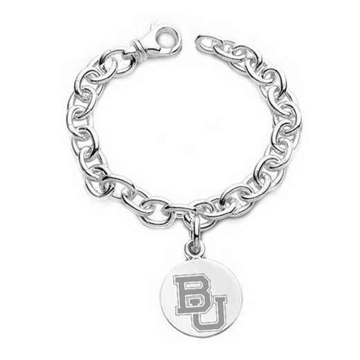 615789875352: Baylor Sterling Silver Charm Bracelet