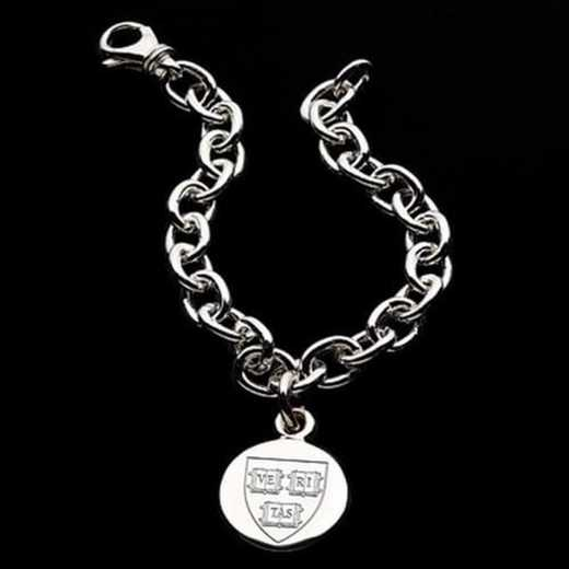 615789910053: Harvard Sterling Silver Charm Bracelet