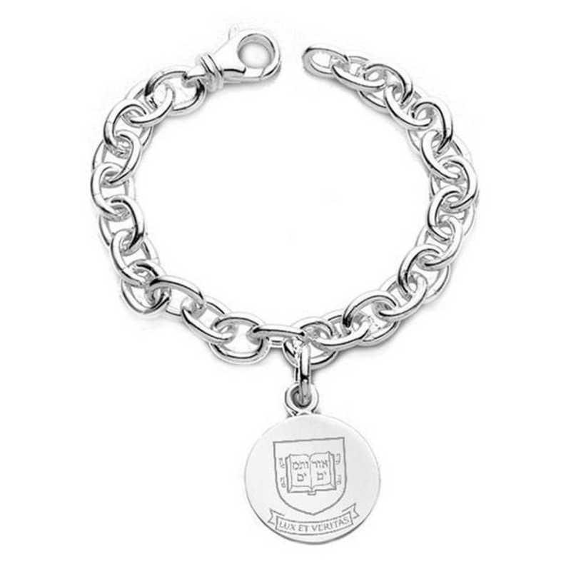 615789910237: Yale Sterling Silver Charm Bracelet