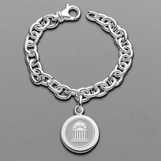 615789910688: SMU Sterling Silver Charm Bracelet