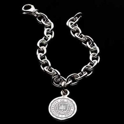 615789968061: Notre Dame Sterling Silver Charm Bracelet