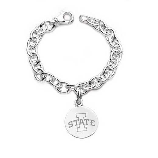 615789972266: Iowa State University Sterling Silver Charm Bracelet