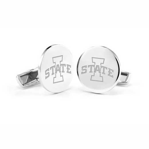 615789451709: Iowa State University Cufflinks in Sterling Silver