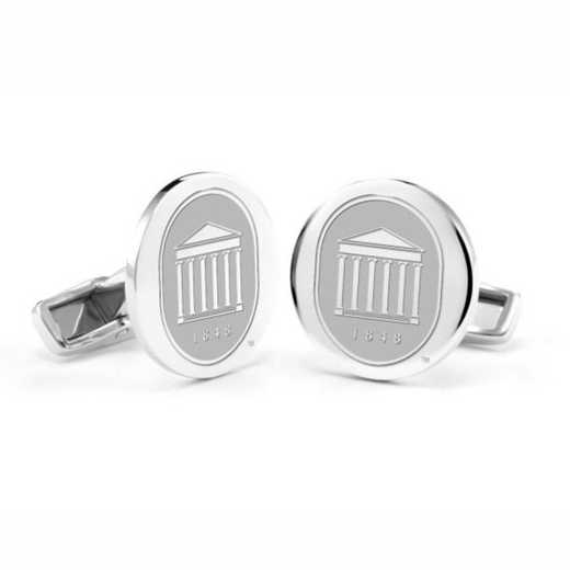615789526681: University of Mississippi Cufflinks in Sterling Silver