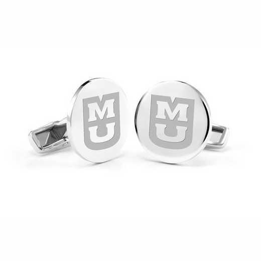 615789693017: University of Missouri Cufflinks in Sterling Silver