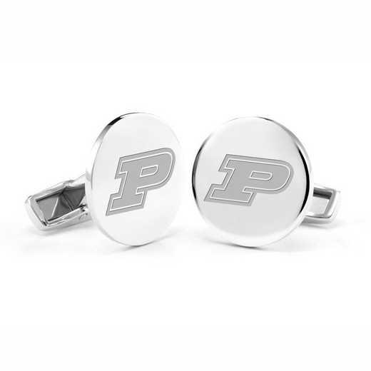 615789742067: Purdue University Cufflinks in Sterling Silver