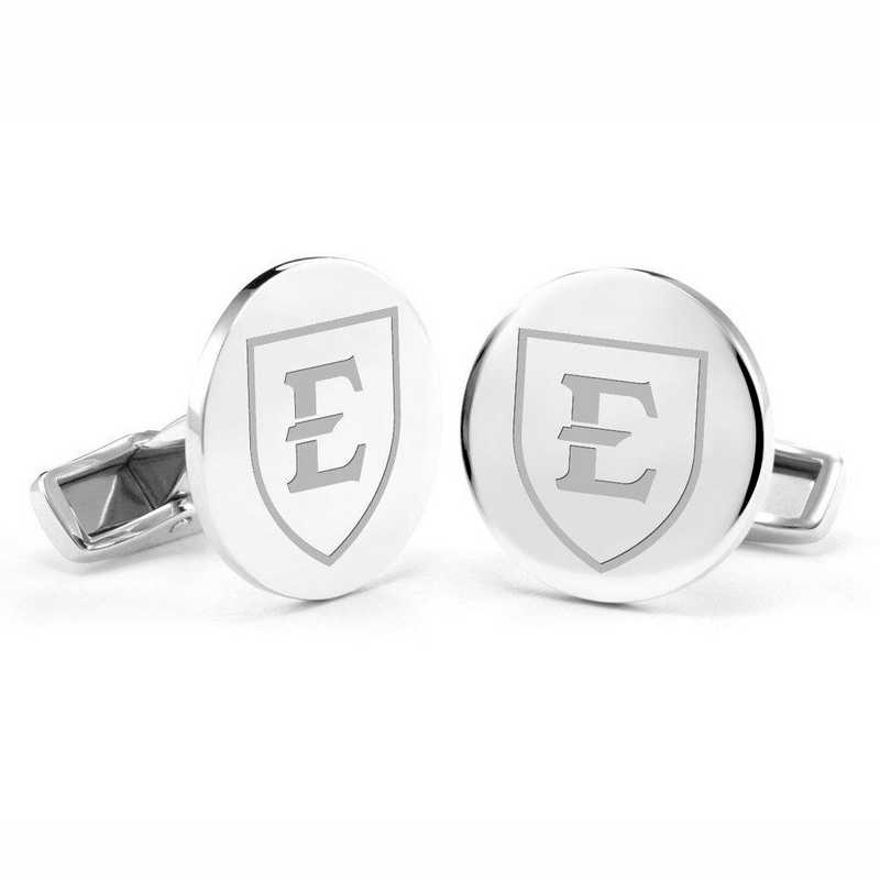 615789876168: East Tennessee State University Cufflinks in Sterling Silver