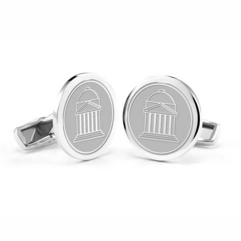 615789910671: Southern Methodist University Cufflinks in Sterling Silver