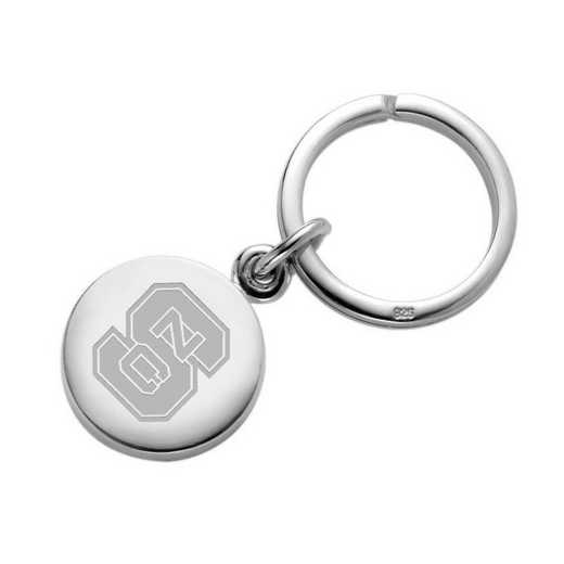 615789014515: North Carolina State Sterling Silver Insignia Key Ring