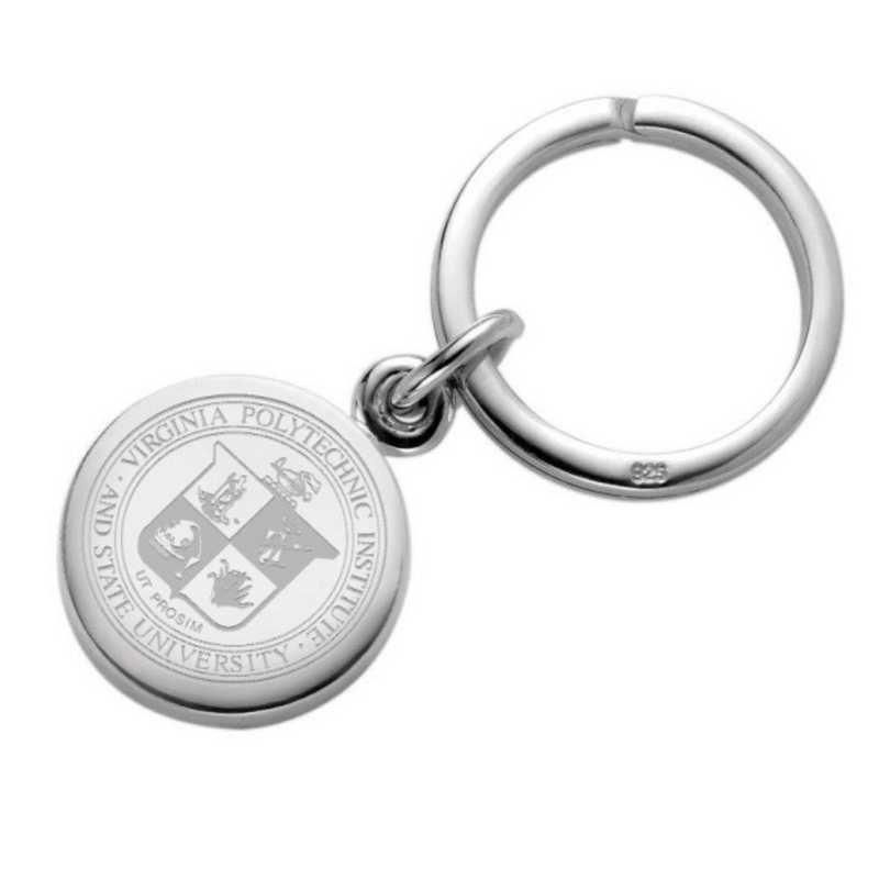 615789014829: Virginia Tech Sterling Silver Insignia Key Ring