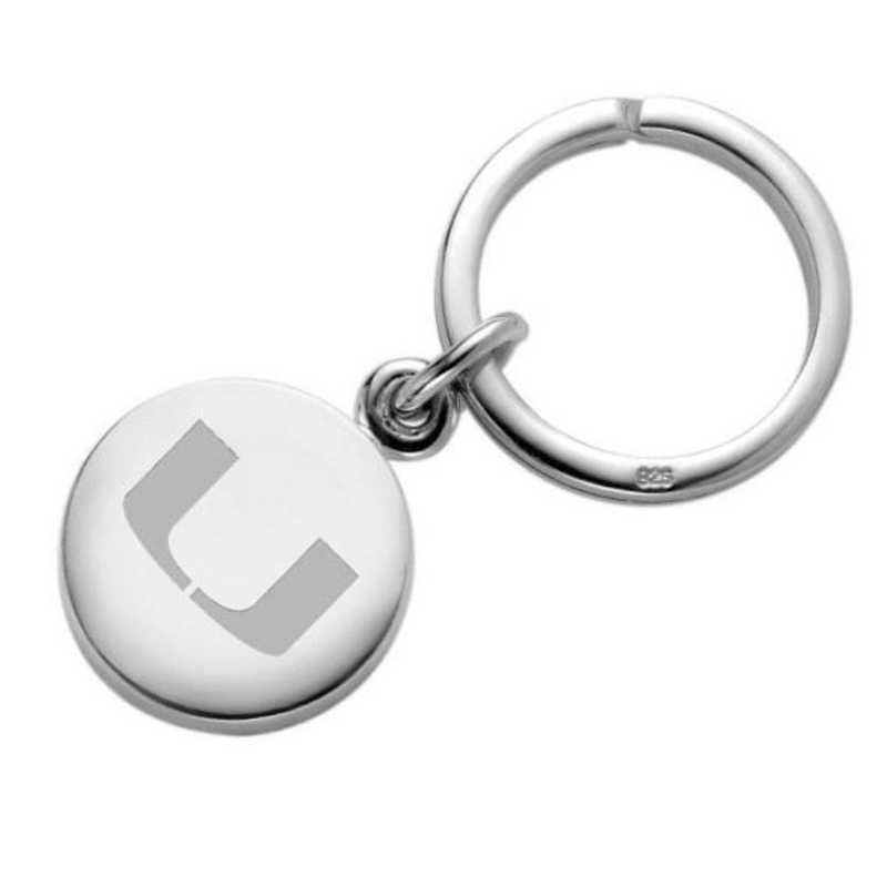 615789033325: Miami Sterling Silver Insignia Key Ring
