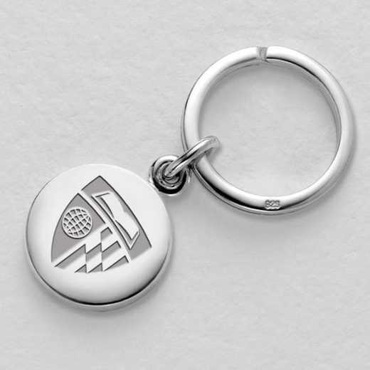 615789048282: Johns Hopkins Sterling Silver Insignia Key Ring
