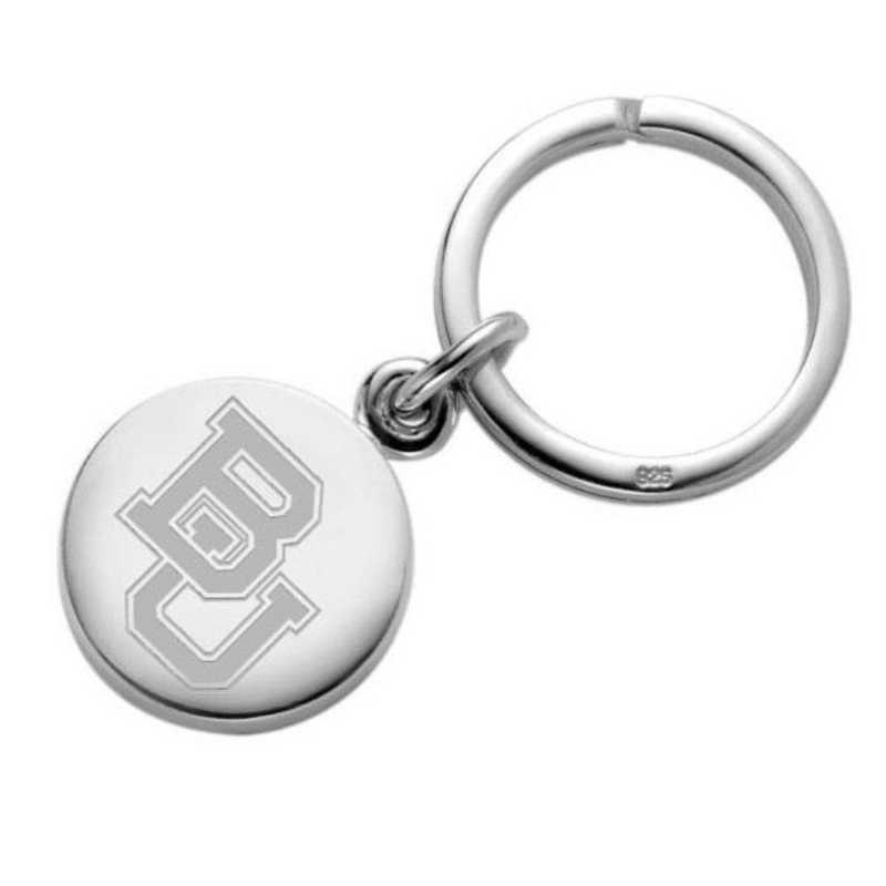 615789082521: Baylor Sterling Silver Insignia Key Ring