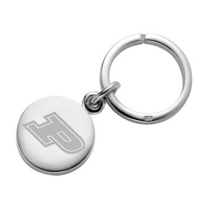 615789113959: Purdue University Sterling Silver Insignia Key Ring