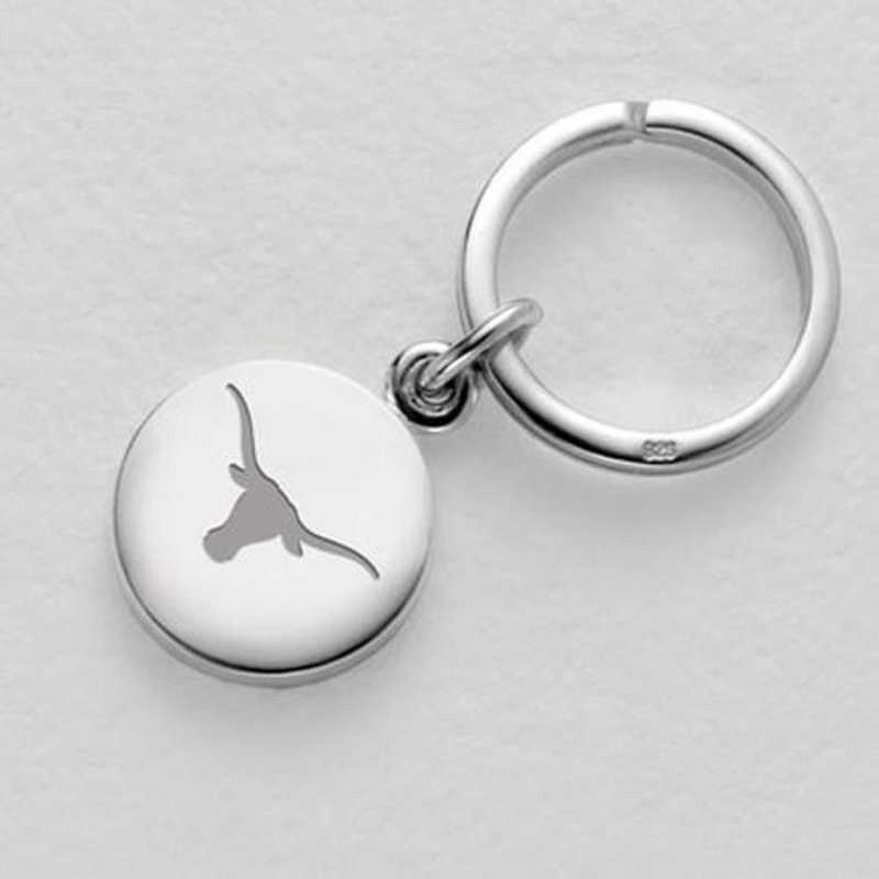 615789116028: Texas Sterling Silver Insignia Key Ring