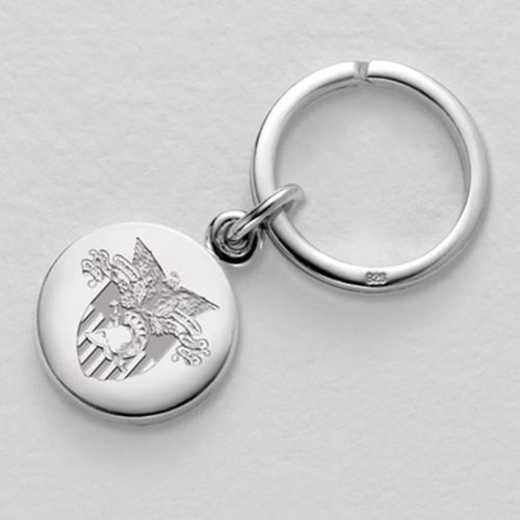615789138730: West Point Sterling Silver Insignia Key Ring
